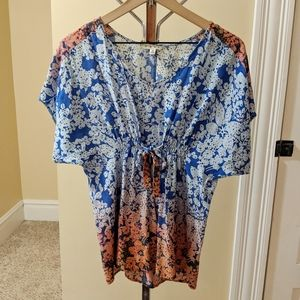 💘 CAbi floral ombre tunic.